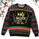 Half Swedish Christmas Ugly Sweater