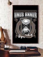 Unus Annus Hourglass Memento Mori Vertical Poster