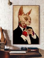 Tatoo Sphynx Cat Vertical Poster