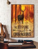 Be Strong And Courageous Reindeer Vertical Poster