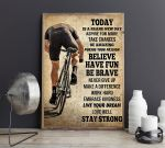 Today Is A Brand New Day Biker Vertical Poster
