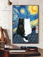 Starry Night Cats Vertical Poster
