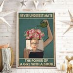 Never Underestimate The Power Of A Girl With A Book Vertical Poster