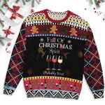 Wine Christmas Ugly Sweater