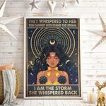 They Whispered To Her You Cannot Withstand The Storm Moon Vertical Poster