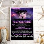 To My Girlfriend You Mean The World To Me Vertical Poster