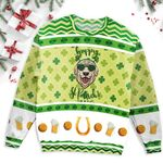 Dog Head Eyeglasses ST Patrick's Day Ugly Sweater