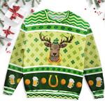 Deer Head Saint Patrick's Day Ugly Sweater