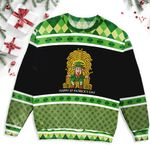Leprechaun Horse Shoe Throne Saint Patrick's Day Ugly Sweater