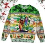 Leprechaun Sloth Riding Llama Unicorn Saint Patrick's Day Ugly Sweater