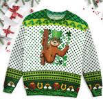 Sloth Saint Patrick's Day Sloth Irish Sloth Paddys Themed Sloth Ugly Sweater