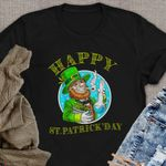 Leprechaun Hippie Stoner Smoking Weed Funny Saint Patrick's Day