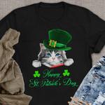 Cute Cat Saint Patrick's Day Shiry Happy St Kitten Dat Black