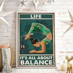 Life It's All About Balance Vertical Poster