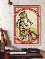 To Keep Balance Keep Moving Cat Vertical Poster