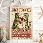 Cat Fight Vertical Poster
