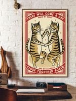Dance Close Together Again Cat Vertical Poster
