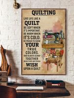 Live Life Like A Quilt Vertical Poster