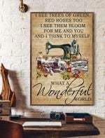 What A Wonderful World Vertical Poster