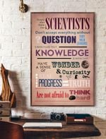 People Who Think Like Scientists Vertical Poster