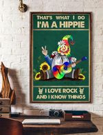 That's What I Do I'm Hippie I Love Rock Vertical Poster