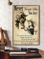 Horse Girl Never Forget Who You Are Vertical Poster