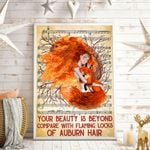 Your Beauty Is Beyond Compare With Flaming Locks Of Auburn Hair Vertical Poster