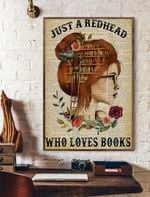 Just A RedHead Who Loves Books Vertical Poster