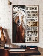 Life Is Short Horse Vertical Poster