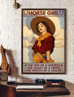 Horse Girl The Fire Of A Lioness The Heart Of A Hippie The Mouth Of A Sailor Vertical Poster