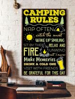 Camping Rules Vertical Poster