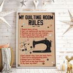 My Quilting Room Rules Vertical Poster