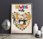 Sewing With Heart Vertical Poster