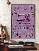 She Works With Her Hands In Delight Vertical Poster