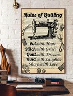 Rules Of Quilting Vertical Poster