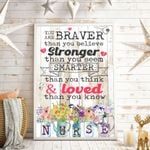 You Are Braver Than You Believe Stronger Than You Seem Smarter Than You Think And Loved Than You Know Vertical Poster