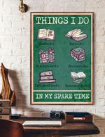 Things I Do In My Spare Time Book Vertical Poster