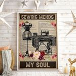Sewing Mends My Soul Vertical Poster