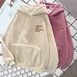 Fuzzy Loose Fitted Women's Hoodie
