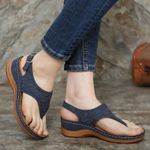 Dr.Care Zapatos Embroidery Orthopedic Comfy Slipper Wedge Sandals, Walking Leather Sandals 2020