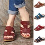 Dr. Care Premium Vintage Orthopedic Open Toe Sandal, Comfy Women Orthopedic Premium Sandals