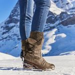 FleekComfy™ Women's Winter Warm Back Lace Up Snow Boots, 6 Colors