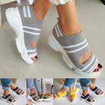 Casual Women Breathable Wedge Comfy Sandals - Fit All Width Foot Sandals