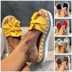 AZZY Casual Platform Daily Comfy Memory Sandals Fancy Flower Sandals 6 Colors