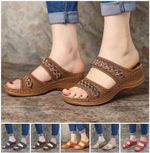 UniqComfy™ Premium Arch-Support Orthopedic Faux Leather Embroidery Women Sandals
