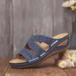FleekComfy™ Premium Orthopedic Thick Platform Large Size Slipper Sandals