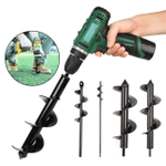Auger Drill Bit Set for Planting - Garden Spiral Hole Drill Planter, Bulb & Bedding Plant Augers