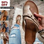 Summer Leather Orthopedic Carina Sandals Flip Flop Beach Sandals Anti-Slip