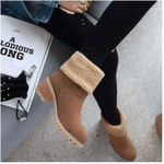 COSY Winter Premium Women Suede Snow Chunky Ankle Boots 2019