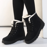 New Women Boots Winter Ankle Boots for Women Winter Shoes Female Snow Boots Botas Mujer Warm Plush Shoes Woman Plus Size 44
